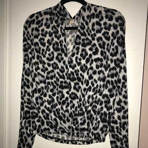Michael kors animal print blouse